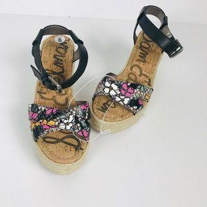 Sam Edelman Floral Wedge Espadrille Sandal